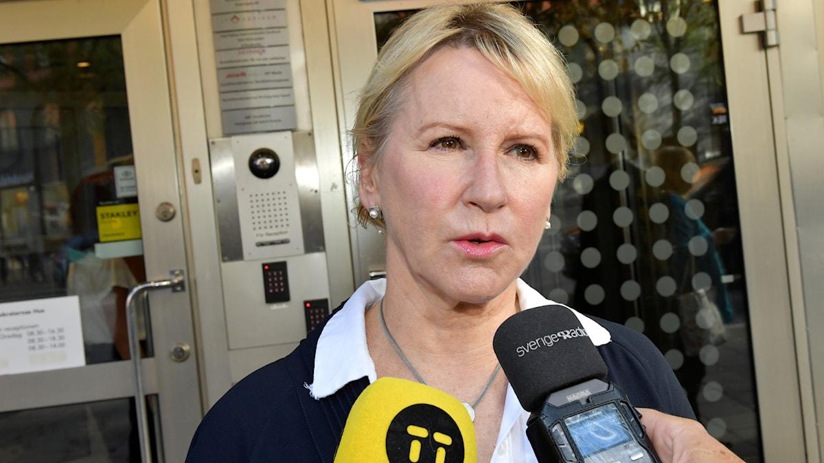 Margot Wallström, wasiirka arrimmaha dibadda Sweden.