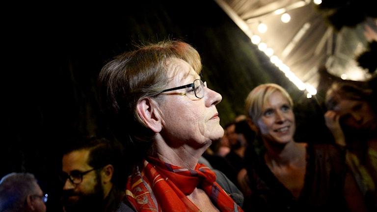 Gudrun Schyman, hoggaamiyaha xisbiga Feministiskt initiativ.