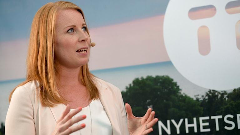 Hogaamiyaha xisbiga Centerpartiet Annie Lööf.