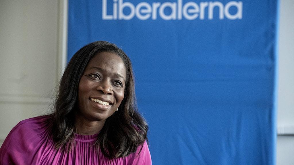Nyamko Sabuni, hoggaggaamiyaha xisbiga Liberalerna.