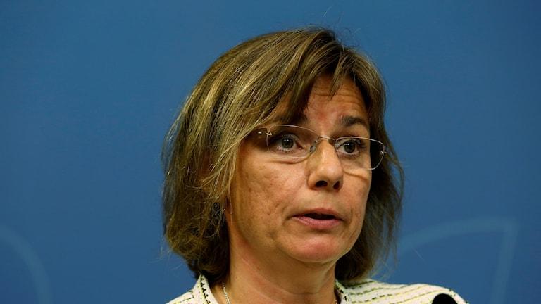 Isabella Lövin (MP), wasiirkacimilada iyo taageerada caalamiga Sweden.
