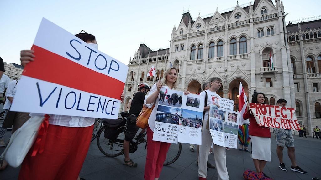 Demonstration i Belarus
