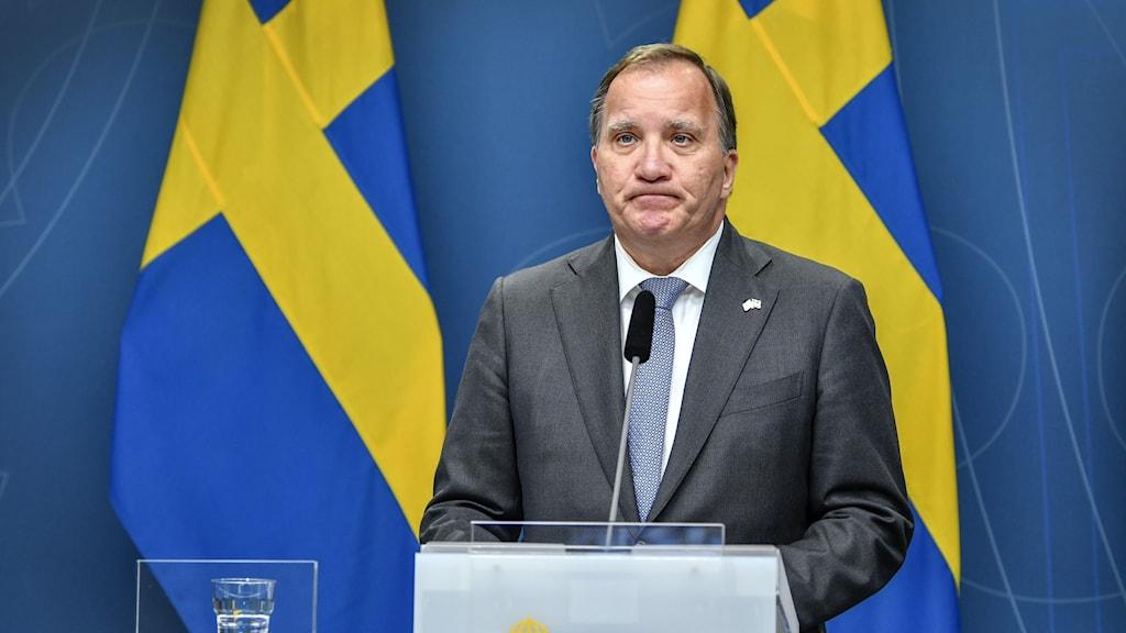 Stefan Löfven (S), madaxa dawladda Sweden.