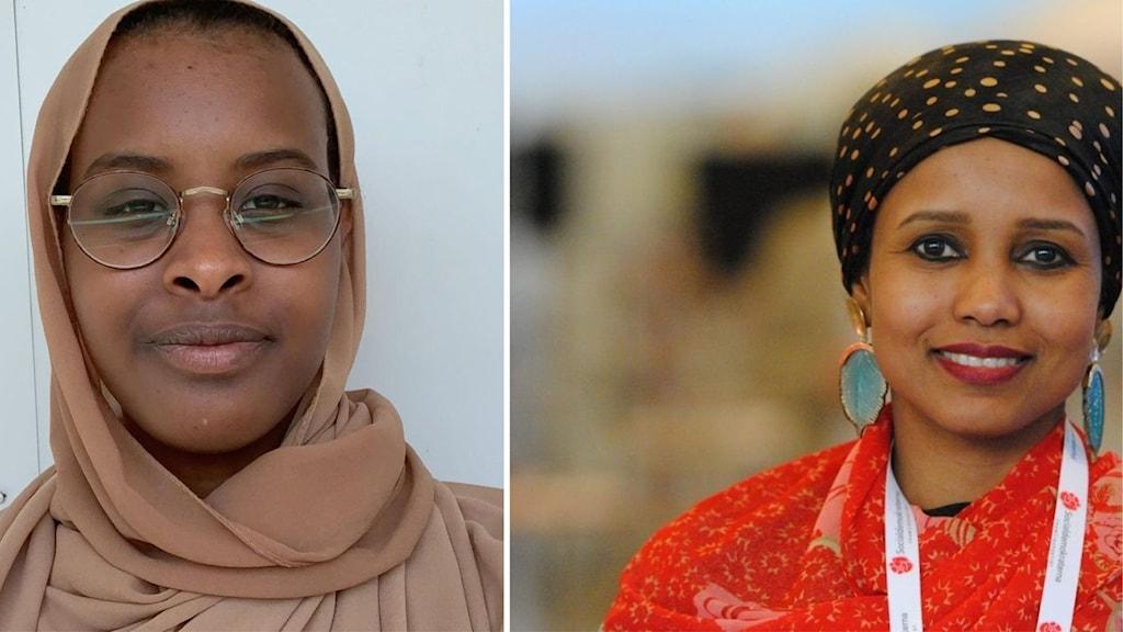 Mariam Yasin, culuunta siyaasadda iyo  Saida Hussein, siyaasi.