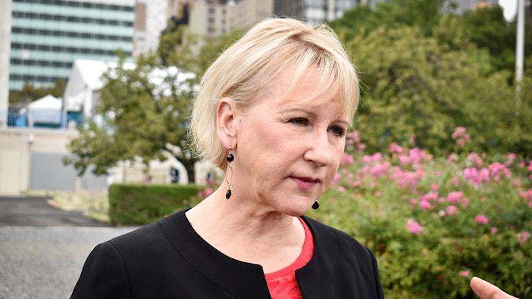 Utrikesminister Margot Wallström (S) på plats i New York för den årliga högnivåveckan i FN.