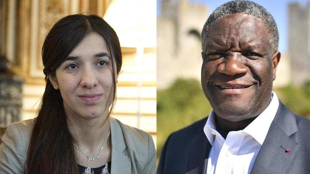 Dennis Mukwege iyo Nadia Murad  oo si wadajira ugu guuleystey Nobelpris-ka nabadda iyo mashruuca waalidka ilmaha laga qaato
