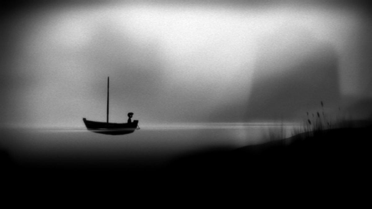 Scen ur det danska spelet Limbo  som Martin Stig Andersen komponerat musiken till  Foto:Playdead