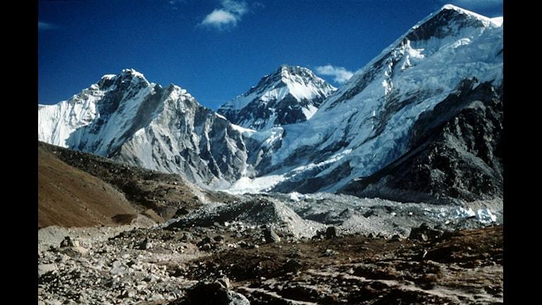 Himalaya, södra gränsen av Tibet.