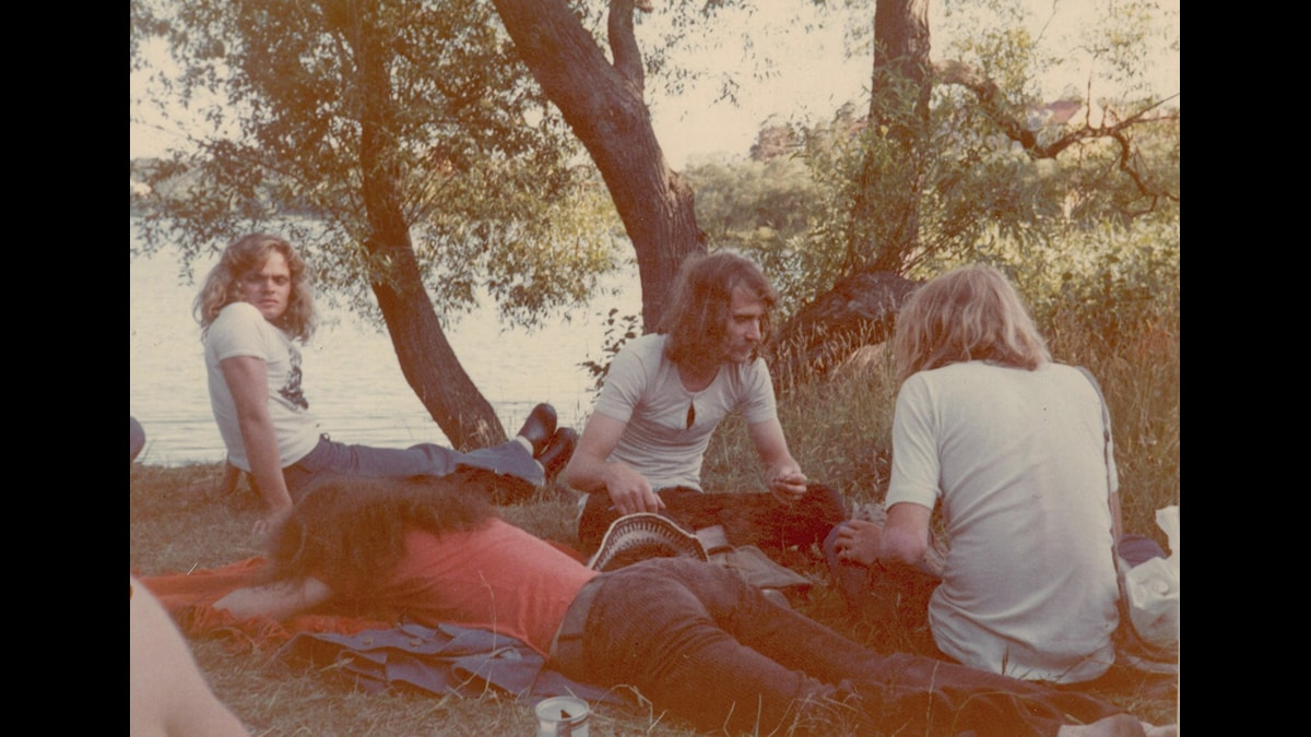 Telefon Paisa med Bosse, Tommy Broman, Einar Heckscher och Lasse Öberg. Foto: Ann-Marie Lundgren.