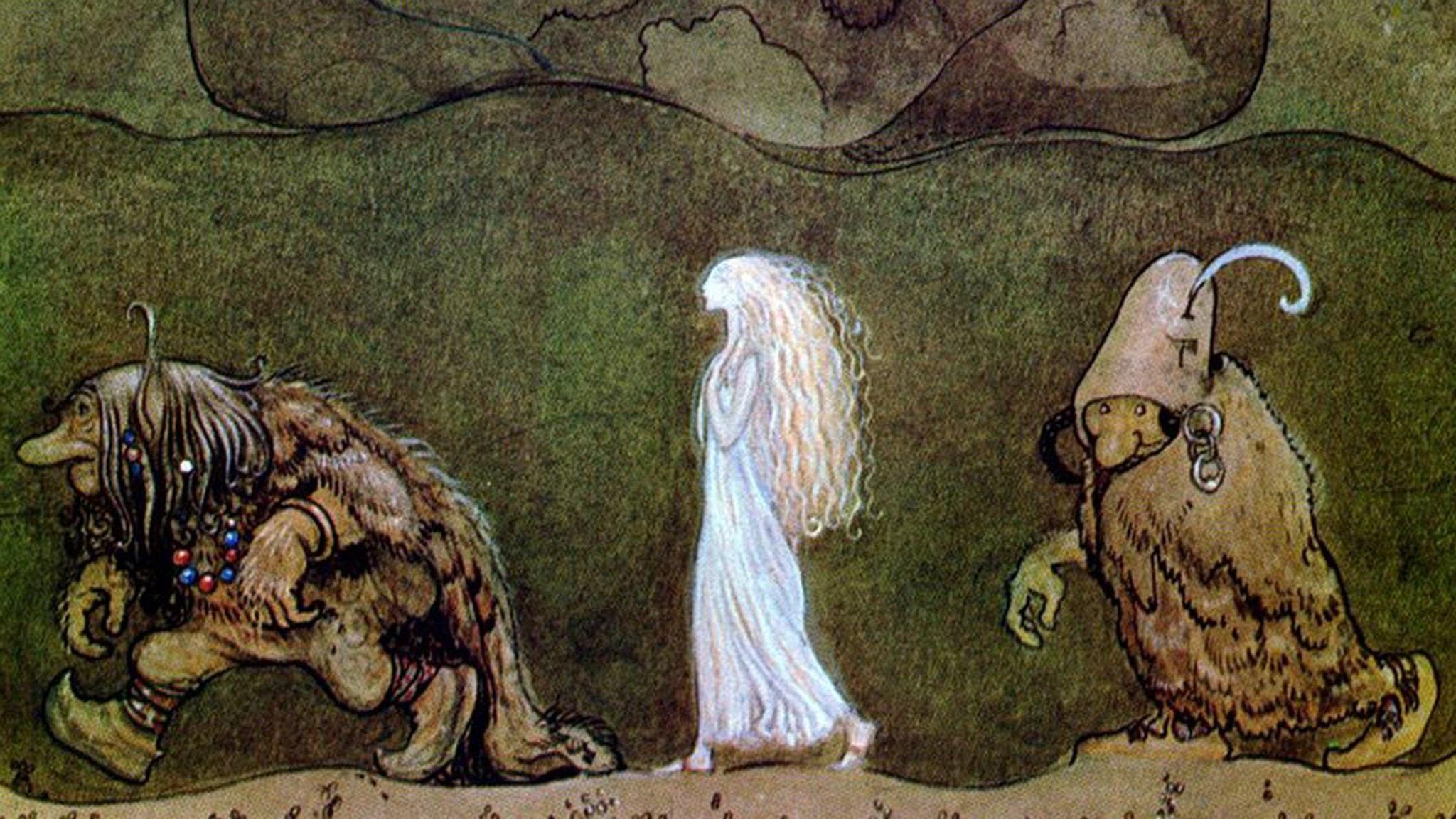 """""""En kväll vid midsommartid gingo de med Bianca Maria djupt in i skogen2"""" av John Bauer"""