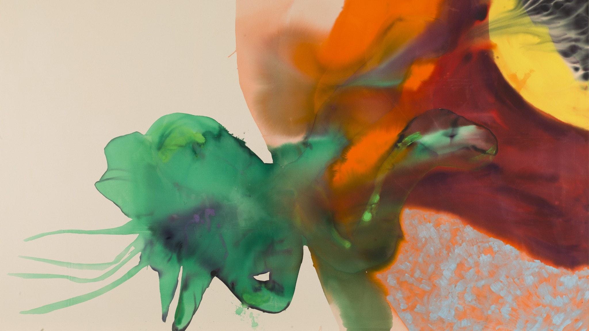 Målning av Ragna Bley på Moderna Museet Foto Prallan Allsten