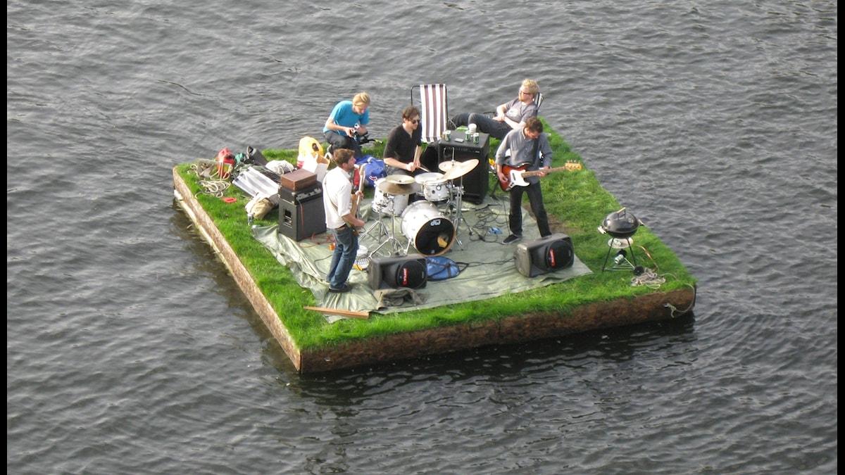 Den lättjefulla musikflotten. Foto: Anna Vilén.