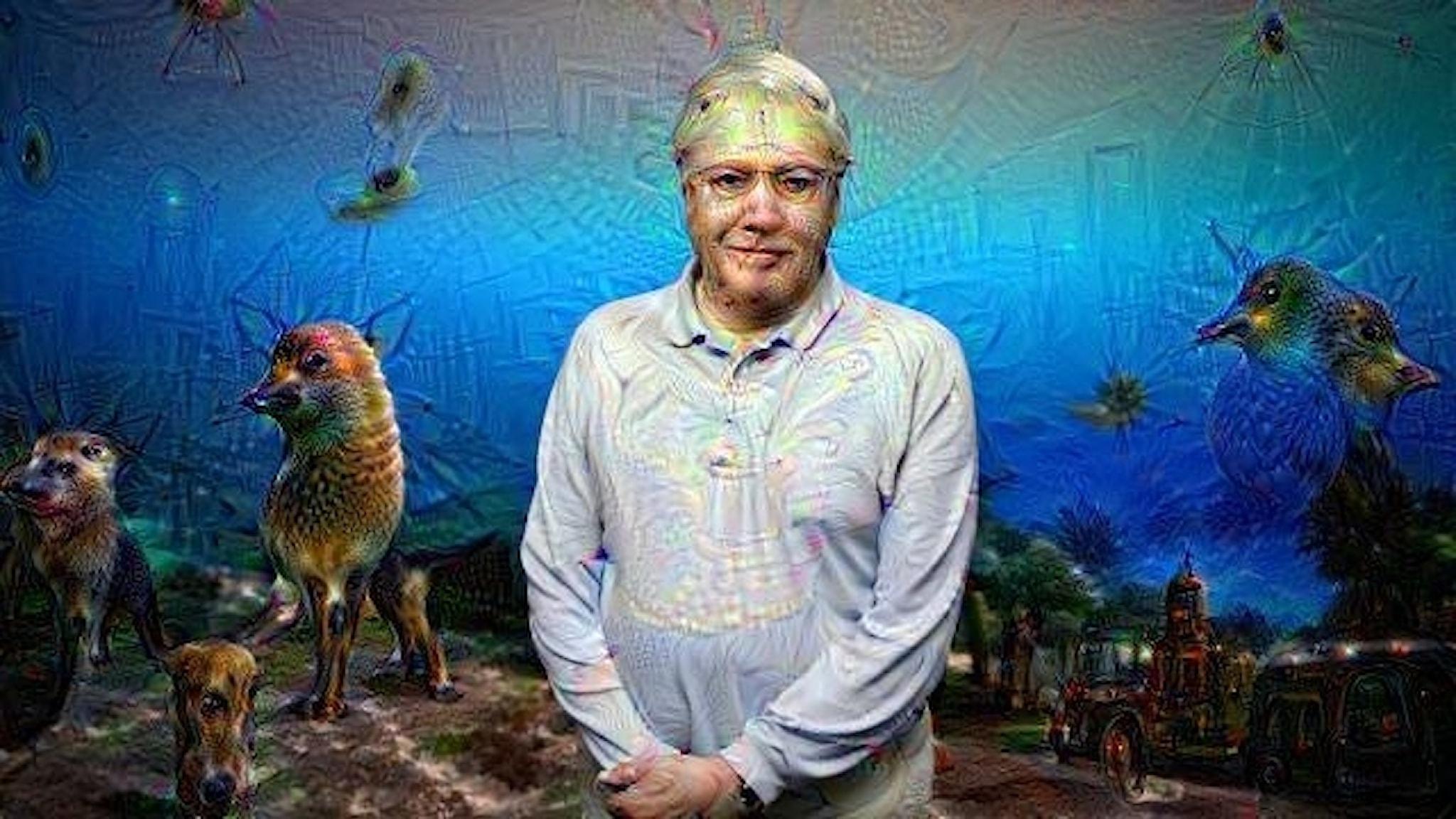 Deep Dream David Attenborough