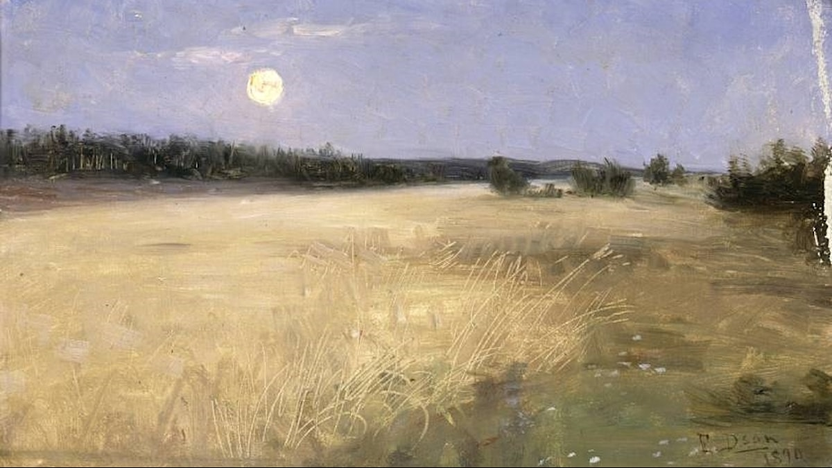 Sommarnatt av Elin Danielson Gambogi Kesäyö 1890/Wikimedia