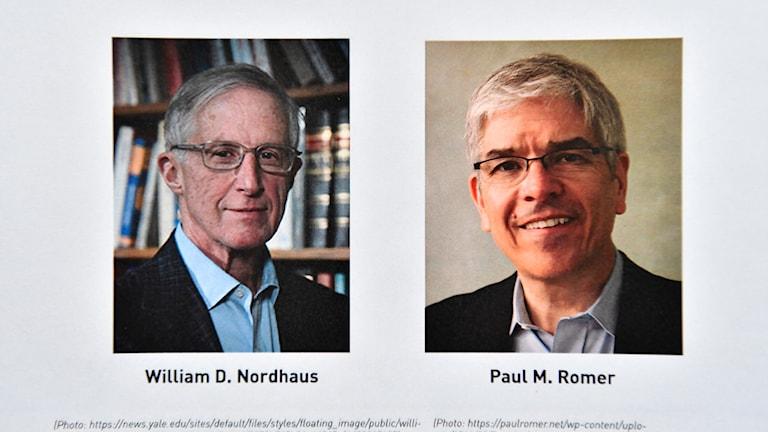 Wergirên xelata aboriyê William D. Nordhaus û Paul M. Romer.