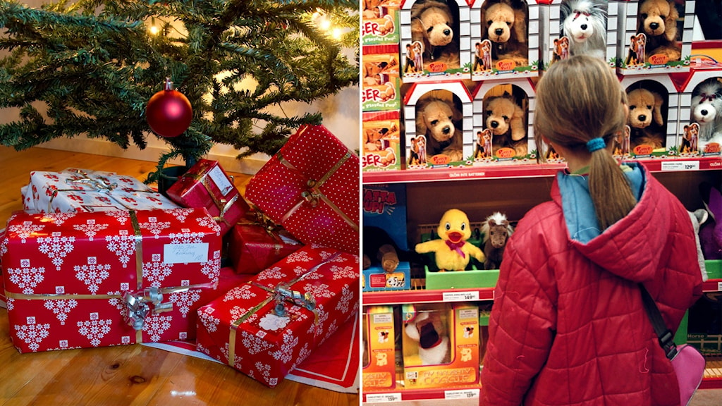 julgran och leksaker