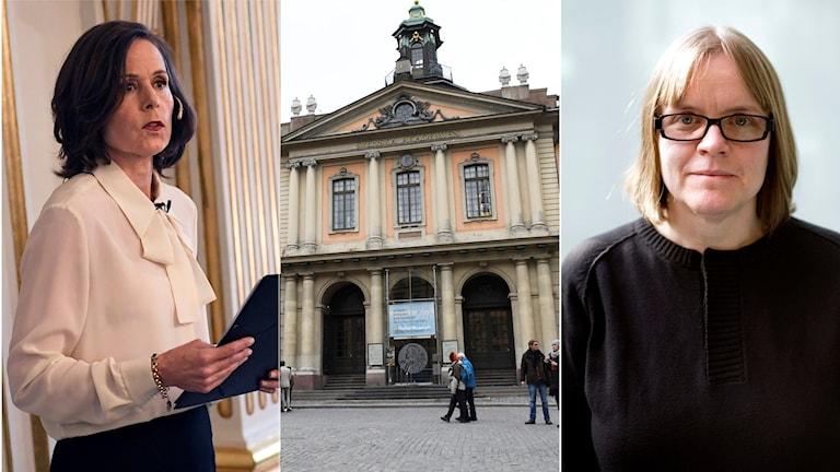 لۆتتا لۆتتاس، باڵەخانەی ئەکادیمیای زمانی سوید، سارا دانیوس سەرۆکی پێشووی ئەکادێمیاکە، مۆنتاژ، بەشی کوردی رادیۆی سوید