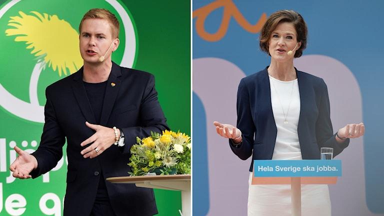 Gustav Fridolin (MP) û Anna Kinberg Batra (M).