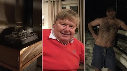 Bastubröndernas ordförande Björn Wesström och bastubadaren Ahin Abbas