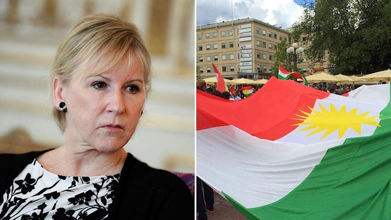 Margot Wallström Kurdistans flagga
