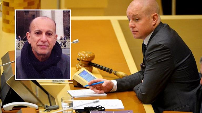 Björn Söder (SD) Wêne: Henrik Montgomery/TT + Goran Meriwani, wêne: privat