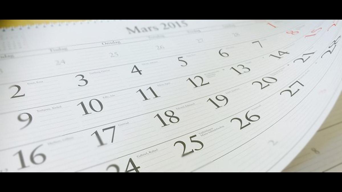 Salname. Kalender. Foto: Besir Kavak, Sveriges Radio