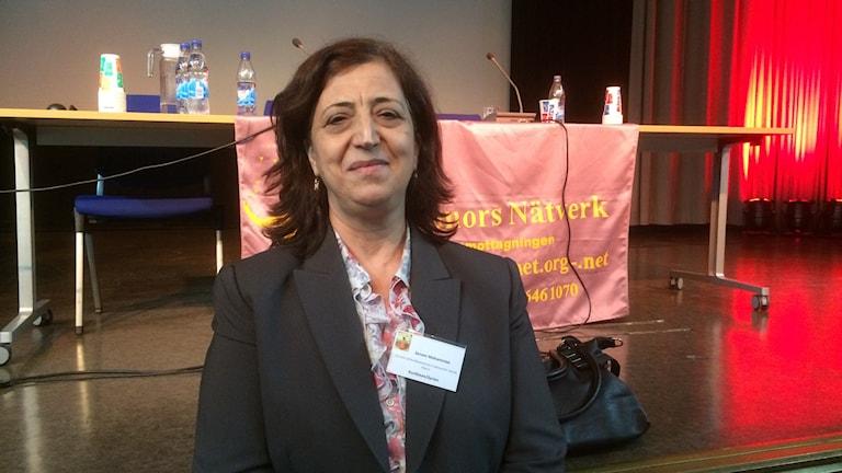 Sinem Mohammed. Photo: Rafand Ahmad / Radio Sweden Kurdish service.