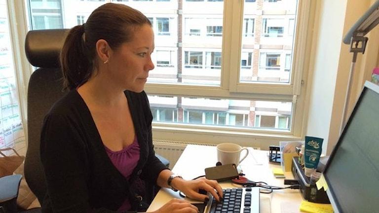 Ulrika Hammarin, lêkolîner li Citypolisen. Foto: Karin Wettre/Sveriges Radio.