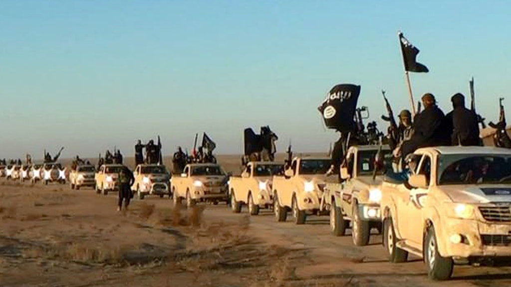 ISIS konvoj. Foto: TT