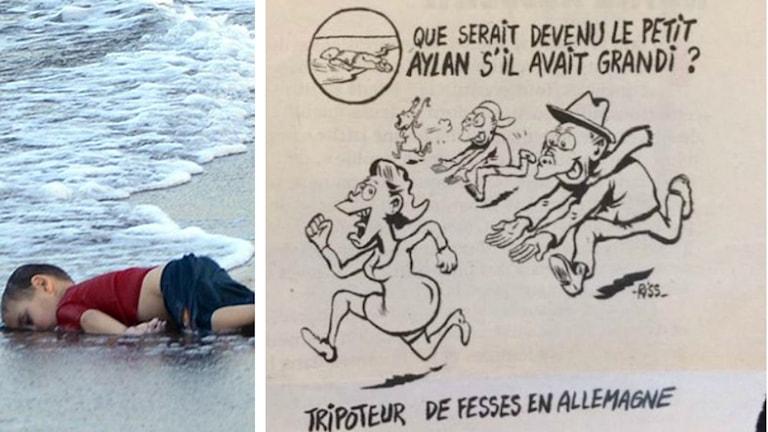 Alan Kurdi och Charlie Hebdos karikatyr