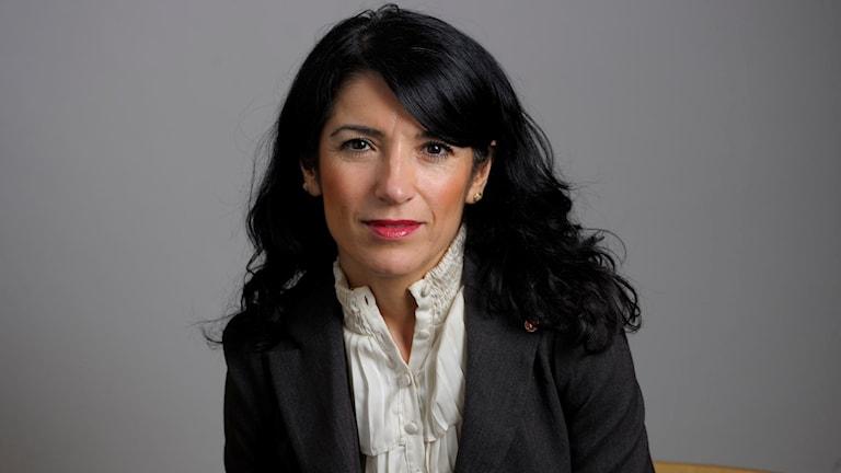 Amineh Kakabaveh ji Partiya Çep seroka komeleya Varken Hora eller Kuvad. Wêne: Henrik Montgomery / SCANPIX.