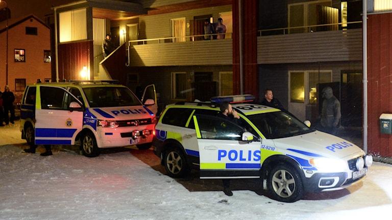 В этом доме арестовали подозревавшегося в терроризме. Фото:Robert Granström / TT