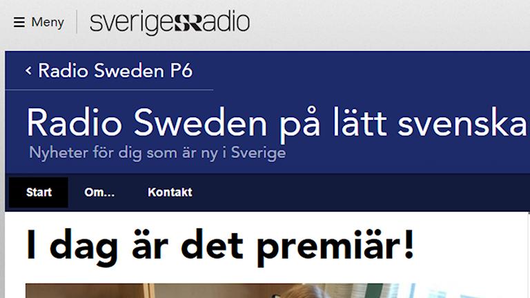 radio sweden på lätt svenska webbsida.