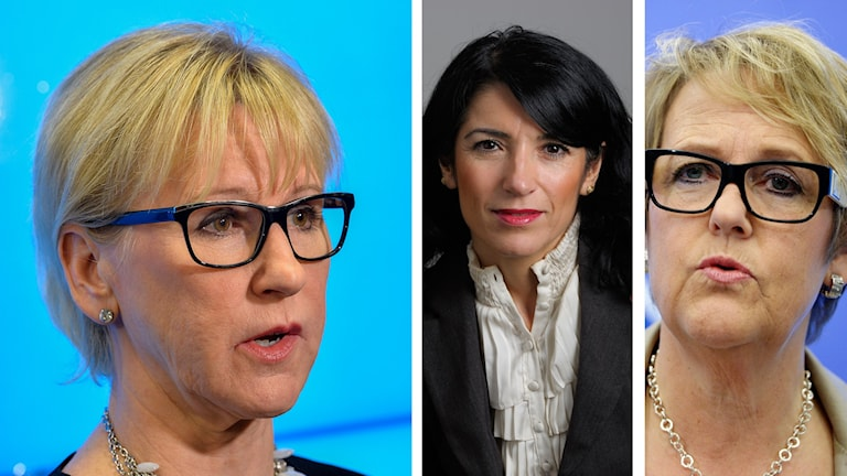 Margot Wallström, Amineh Kakabaveh, Desiree Petrus. Foto: TT