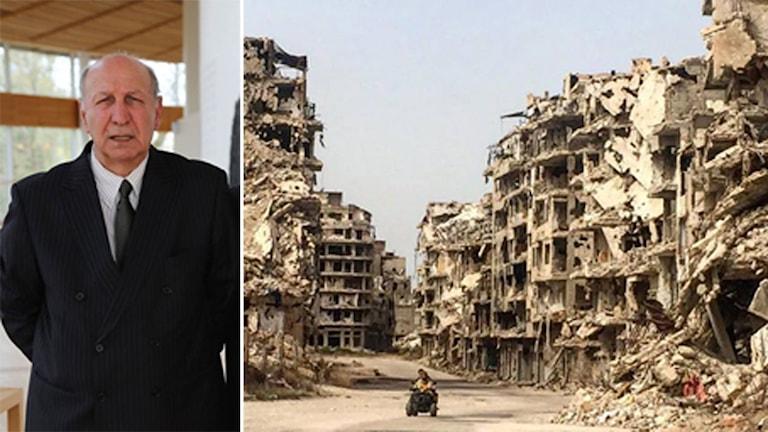 Omer Shêxmûs û bajarê Homsê li Sûriyê.