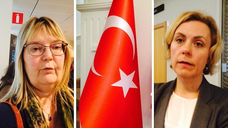 Ylva Nilsson, Turkiska flaggan och Katarina Areskoug Mascarenhas