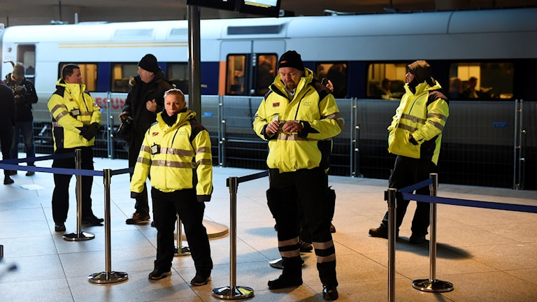ID-kontroll vid tågstation