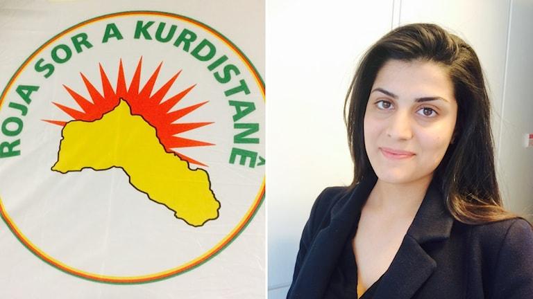 Kurdiska Röda Solen och representanten Bahar Shivan.