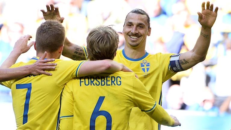 Svenska landslaget med Zlatan
