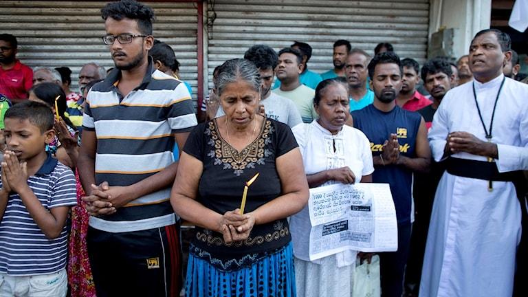 Taziye li Sri Lankayê. Foto: Gemunu Amarasinghe/TT.