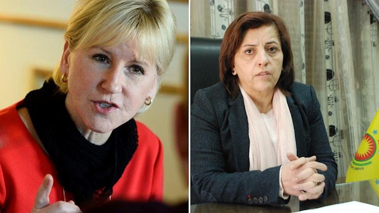 Margot Wallström, Hevi Mustafa, kurdisk ledare i Afrin.