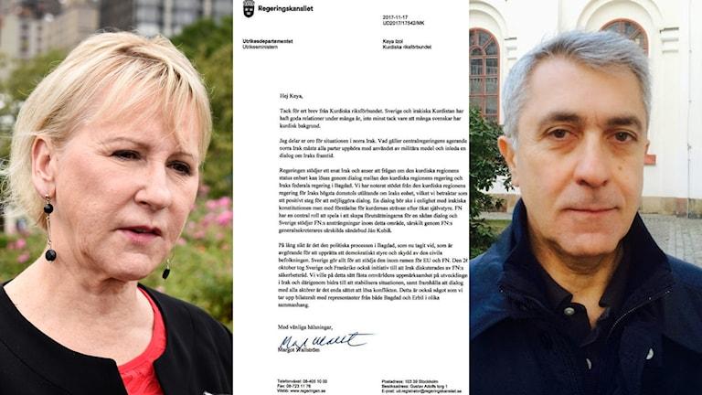 Margot Wallström, Keya Îzol och brevet