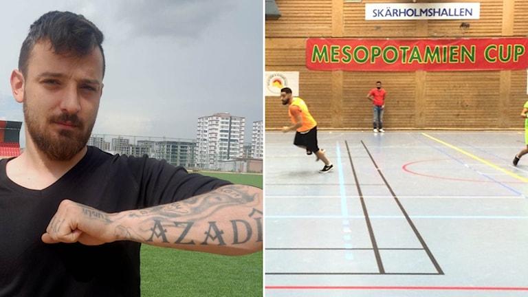Deniz Naki och fotbollshallen i Skärholmen