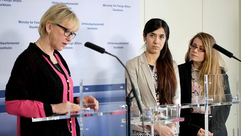 Margot Wallström och Nadia Murad på UD