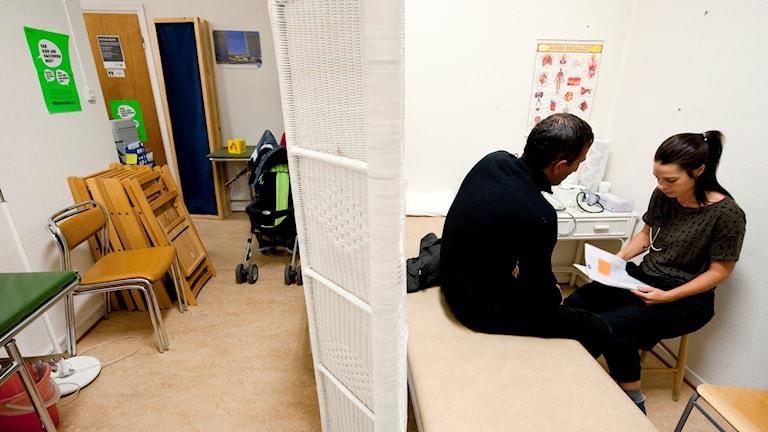 Mobil klinik för papperslösa.