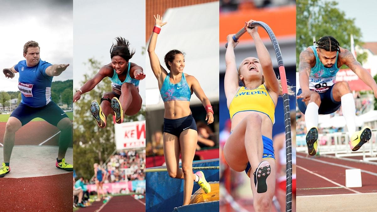 Många svenskar är med och tävlar i VM i friidrott.