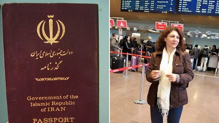 Iransk pass och passkontroll på Arlanda