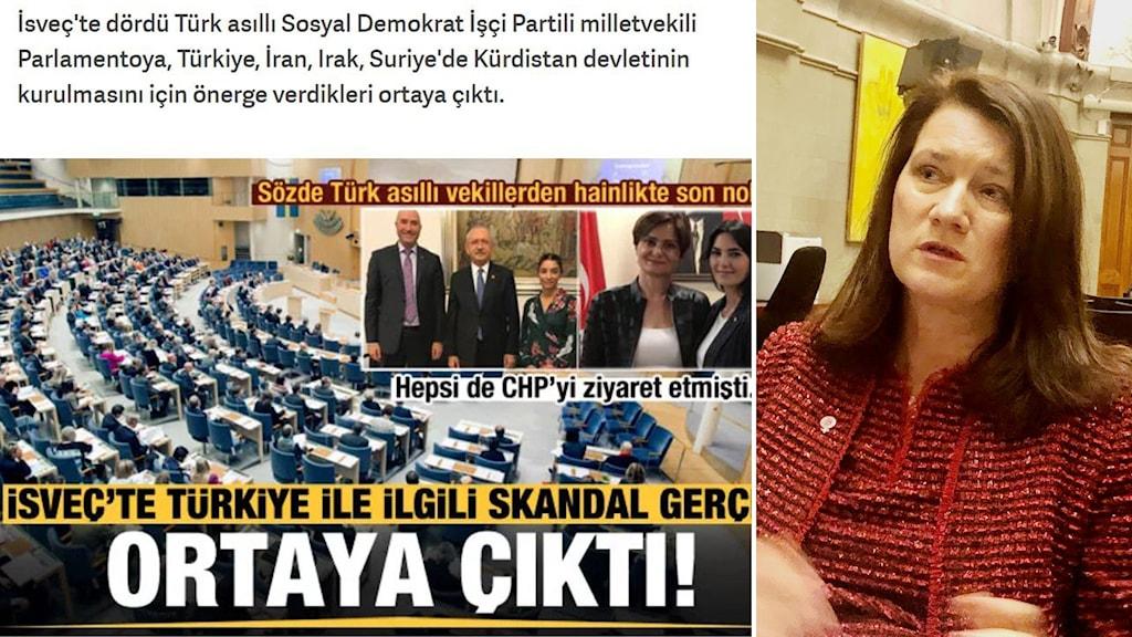 Ann Linde, Serkan Köse, Kadir Kasirga, Sultan Kayhan, Roza Guclu Hedin