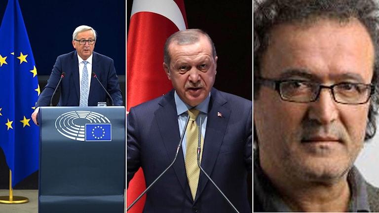 Juncker, Erdogan, Okumus