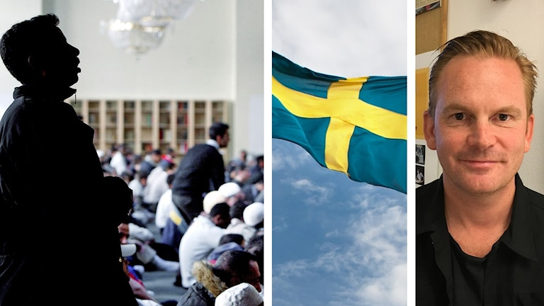 fredagsbön, svenska flaggan, Simon Sorgenfrei